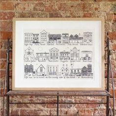 On The Sunny Side Of The Street In Shrewsbury Art Print