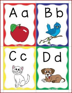 FREE alphabet flashcards ~ These are fun and colorful to make learning letters fun! Kindergarten Freebies, Classroom Freebies, Kindergarten Handwriting, Teachers Pay Teachers Freebies, Handwriting Worksheets, Handwriting Practice, Kindergarten Reading, Classroom Decor, Alphabet Activities