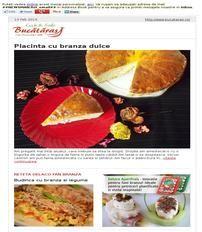 Placinta cu branza dulce recipe