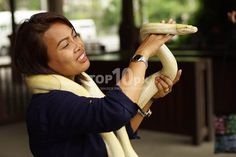 Thai Lady with Snake