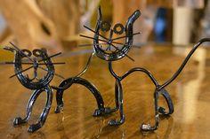 Handmade Cat or Kitten Sculpture by WiemerWelding on Etsy