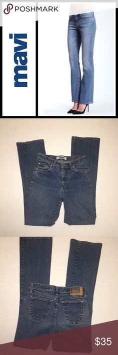 """Mavi Molly High Rise Stretch Boot Cut Jeans Mavi Molly High Rise Stretch Boot Cut Jeans in perfect condition - some distressed coloring which is the style - maybe worn twice. Size 27 and does have stretch - see pics for additional measurements. Inseam is 32"""" Mavi Jeans Boot Cut"""