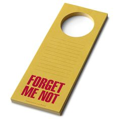 Forget Me Not Door Hanger Pad by Bob's Your Uncle $12.49
