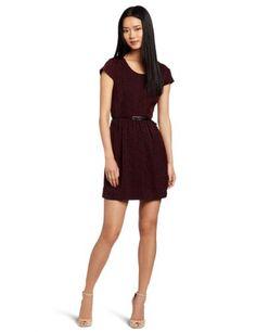Amazon.com: Kensie Women's Double Dots Dress, Purple, Large: Clothing