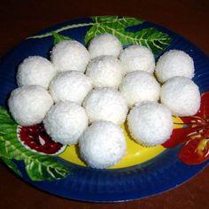 Túrós kókuszgolyó Recept képpel - Mindmegette.hu - Receptek Truffles, Breakfast, Food, Candy, Morning Coffee, Eten, Truffle, Meals, Morning Breakfast