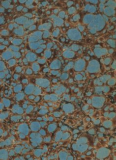 Vintage 19th c. marbled paper, Turkish on Shell pattern