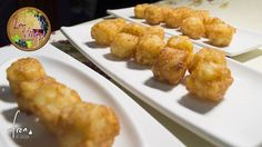Minicroquetas de patata... un aperitivo para picotear mientras llegan los primeros ;-) Gustas?