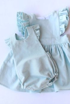 Handmade Linen & Cotton Pinafore Dress & Romper | LandandFin on Etsy