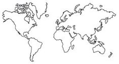 Wanderlust - World Map | Urban Threads: Unique and Awesome Embroidery Designs