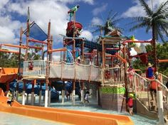 Wet 'n' Wild Water World: great playground with water for the little ones #Australia #Goldcoast