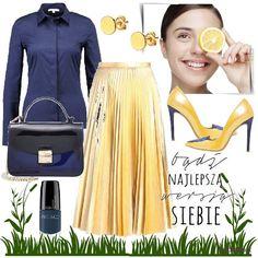 Stylizacje dnia z Inspiruj.net – Spódnice maxi - KobietaMag.pl Yellow Outfits, Metallic, Boho, Polyvore, Ideas, Fashion, Yellow Clothes, Moda, Bohemia