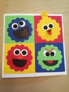 This cute Sesame Street card that I made for a 2 year olds birthday. I love it