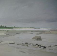 Sara MacCulloch, Beach and Clouds 2014, Oil on canvas