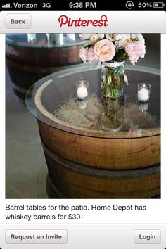 Whiskey barrels :/