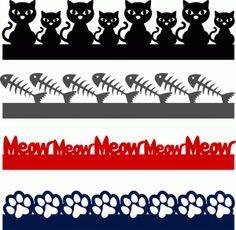 Silhouette Online Store - View Design #60505: cat borders set