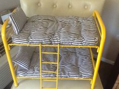 DIY Metal Bunkbed tutorial LIKE the AG one picture here.
