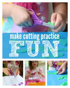 Make cutting practice fun activities with #fiskars #ad FREE printable cutting sheets too!