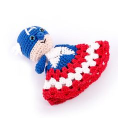 Captain America-Inspired Super Snuggle | Calling all superheroes! We have a lovey crochet blanket pattern just for you!