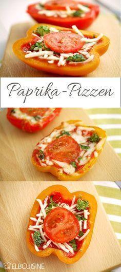 Kleine, gesunde Paprika-Pizzen