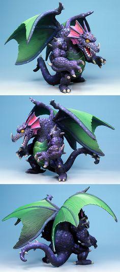Chaos Dragon miniature painted by Sergio Calvo Rubio.