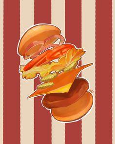 HeeGyeong illustration-food-hambuger-cheese