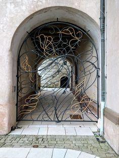 Jean Messagier, grille du château de Montbéliard Paris 13, France, Illustrations, Forever, Places, Photos, Antique Post Cards, Photography, Pictures