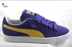 Puma Classic Olympian Blue White Suede Leather Mens Trainers Size 10.5 UK JP2nQC2Id