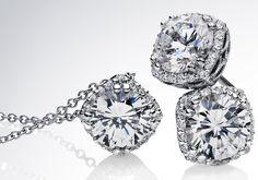 Tacori cushion cut diamond stud earrings to match my ring ;)