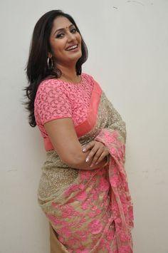 Tv Anchor Jhansi Photos In Pink Transparent Netted Designer Saree Indian Natural Beauty, Indian Beauty Saree, Beauty Full Girl, Beauty Women, Beautiful Saree, Beautiful Outfits, Heroine Photos, Most Beautiful Indian Actress, Saree Styles
