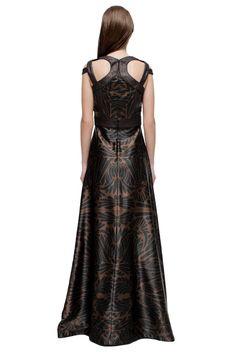 Upscale Print Halter Dress - LATTORI дизайнерские платья