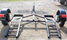 Car Tow Dolly -The Lightest and Trailer Dolly, Free Trailer, Trailer Plans, Trailer Build, Motorcycle Trailer, Motorcycle Camping, Welding Trailer, Trailer Wiring Diagram, Homemade Go Kart