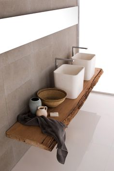 Rustic bathroom interior