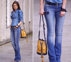 Flared jeans (by Nika H) http://lookbook.nu/look/2612121-Flared-jeans