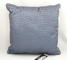 "Hudson Park Windsor Bead & Sequin 16"" Square Decorative Decoration Pillow $140 #HudsonPark King Pillows, Throw Pillows, Windsor, Hudson Park, Euro Pillow Shams, Seed Stitch, Parka, Decorative Pillows, Bead"