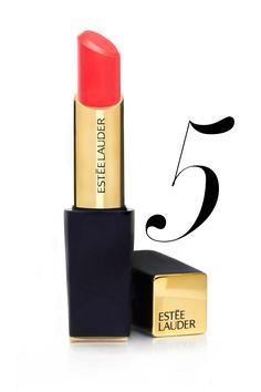 Estée Lauder Pure Color Envy Shine Sculpting Lipstick in Surreal Sun, $30, esteelauder.com.   - HarpersBAZAAR.com