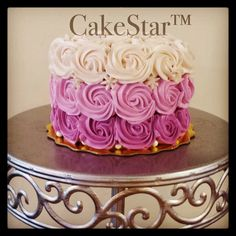 Purple ombré rosette smash cake! :)