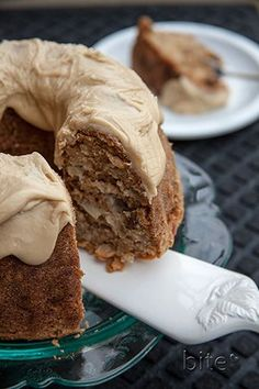 Chunky Apple Walnut Cake with Caramel Glaze is a beautifully moist dense cake with a thick creamy frosting. Perfect for apple season! Apple Desserts, Fall Desserts, Apple Recipes, Just Desserts, Delicious Desserts, Cake Recipes, Dessert Recipes, Yummy Food, Thanksgiving Desserts