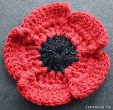 Knitting Pattern For Anzac Day Poppies : Anzac poppies on Pinterest 64 Photos on crochet poppy ...