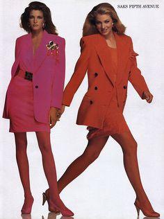 Escada ads 1980's feat Elaine Irwin & Stephanie Seymour