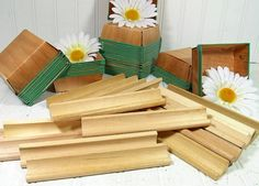 Vintage Scrabble Game Tile Racks - Wooden Letter Holders for Repurposing Upscaling Upcycling - Set of 10 $9.00 by DivineOrders