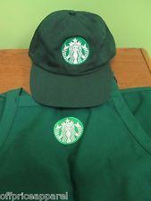 New Logo Starbucks halloween costumes barista apron and hat set,both adjustable