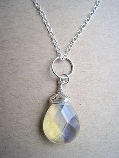 pineapple quartz pendant