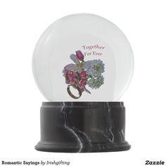 Romantic Sayings Snow Globes