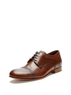 Leather Cap Toe Oxfords