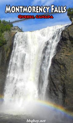 Just outside Quebec city are the highest falls in the province of Quebec. All about Montmorency Falls in this post #bbqboy #Montmorency #Quebec #travel