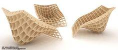 Este sillon de Scriptecture  fue inspirado en los muebles parametricos hechos en la universidad de Columbia.  Se comienza haciendo un...