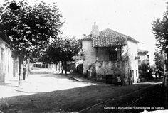 Calle desaparecida en la bifurcación de Alango y Avenida Algorta (Colección Daniel Zubimendi) (ref. DZN01103)