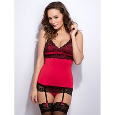 Lovehoney Adore Me Lace & Microfibre Chemise Set