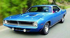 "1970 Plymouth Barracuda in B5 ""Blue Fire Metallic."""