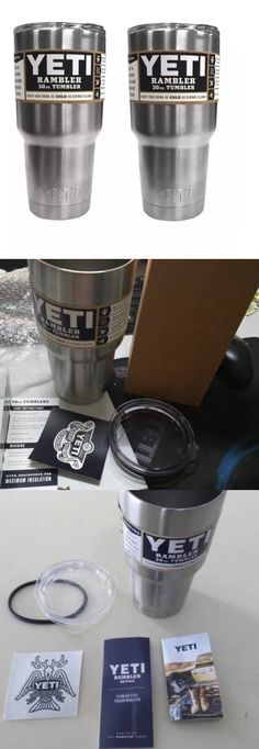 Other Camping Cooking Supplies 16036: Two Yeti 30 Oz Stainless Steel Rambler Tumbler Insulated Cups Set Of 2 Original -> BUY IT NOW ONLY: $37.99 on eBay!